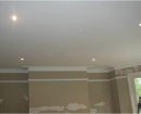 spotlights installation and painting